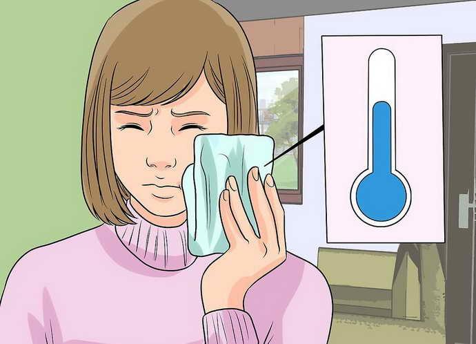 избегать теплых компрессов на щеку
