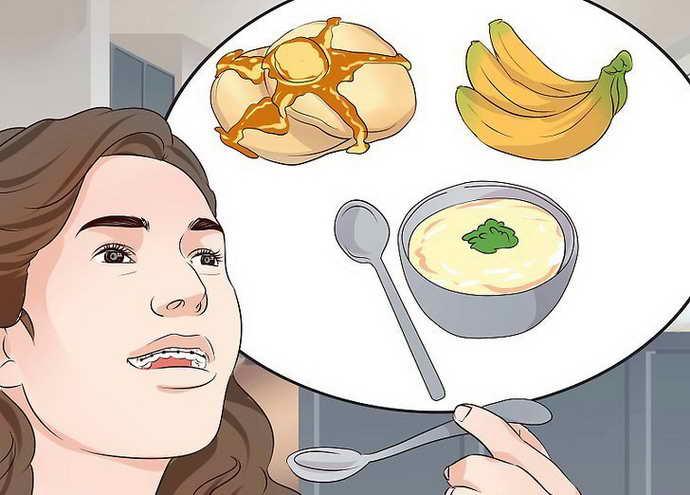 Откусывание еды с брекетами