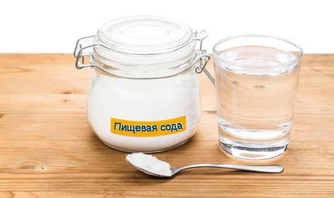 Применение соды от флюса