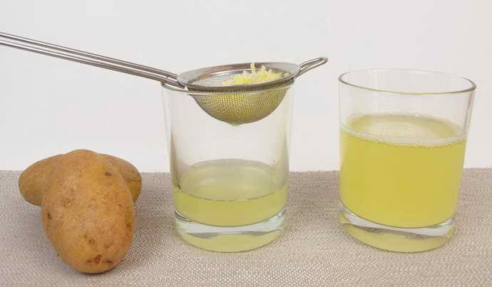 Картофельный сок от географического языка