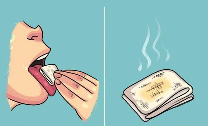 как узнать есть ли запах изо рта с помощью салфетки