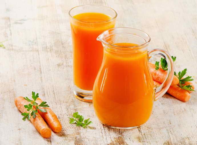Морковный сок от стоматита на небе