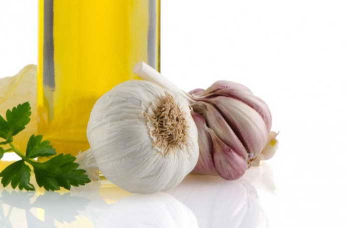 чеснок и масло от стоматита