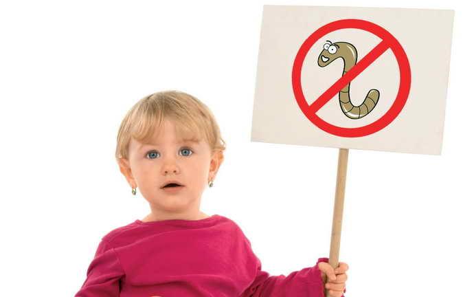 Глисты и стоматит на языке у ребенка