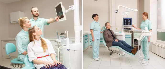 осмотр врачом зуба мудрости